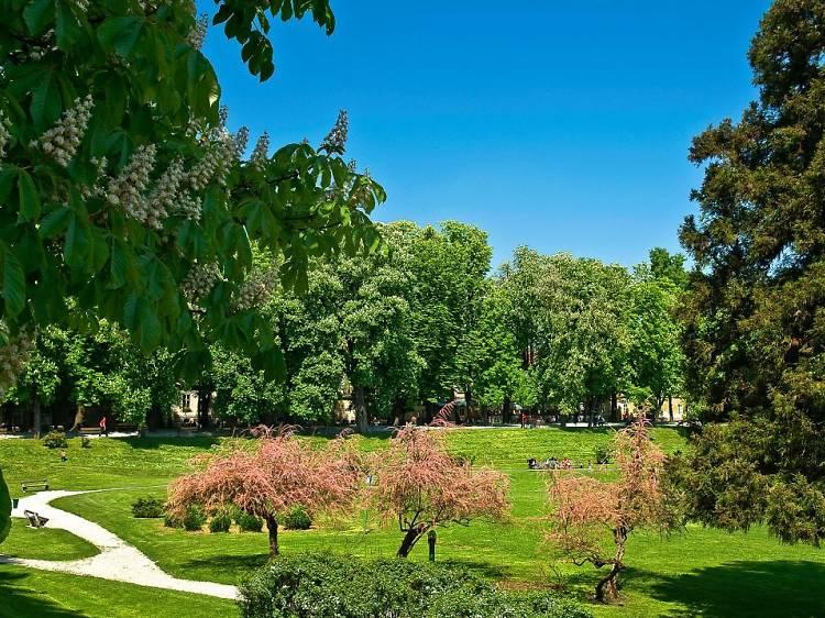 Stroll amid beautifully landscaped gardens