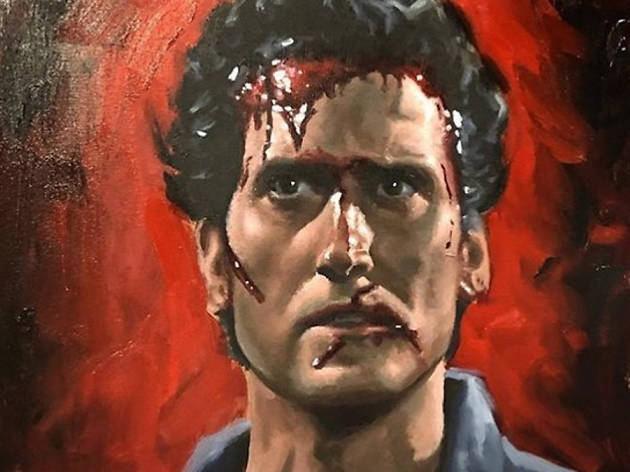 Evil Dead art show Burbank Bearded Lady's Mystic Museum James William Penland