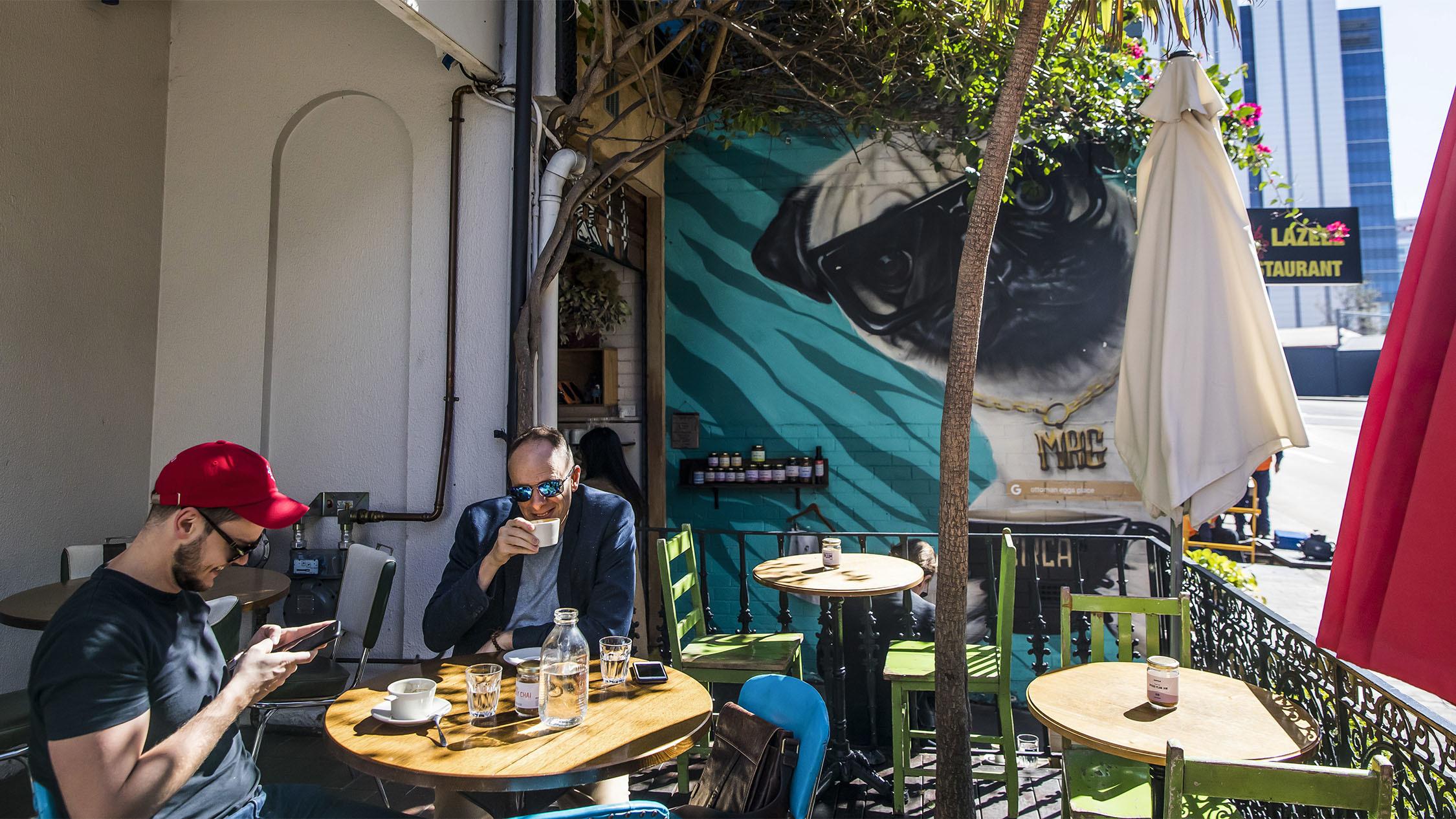 Outdoor dining at Circa Espresso