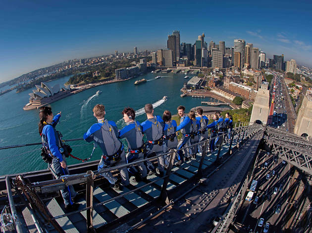 The summit of the Sydney Harbour Bridgeclimb