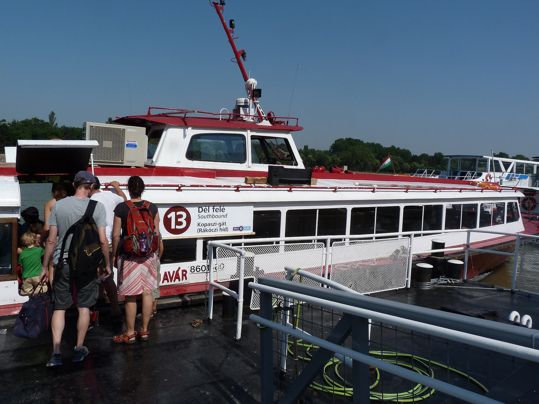 The D13 BKK Boat in Budapest