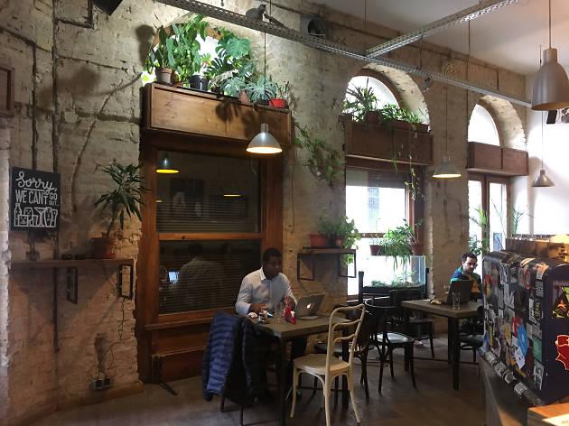 The interior of Kisuzem bar in Budapest