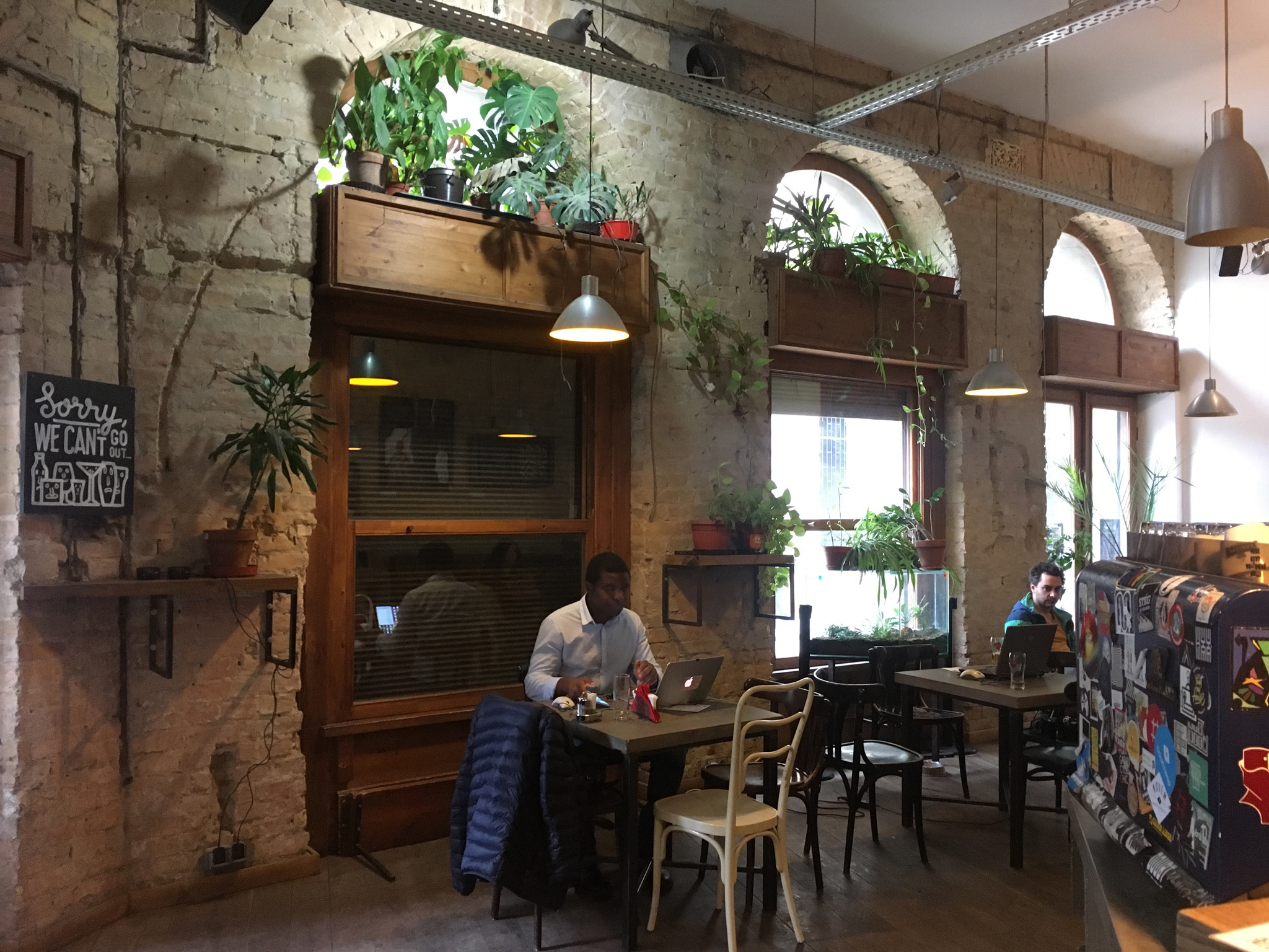 The interior of Kisuzem bar in Budapest