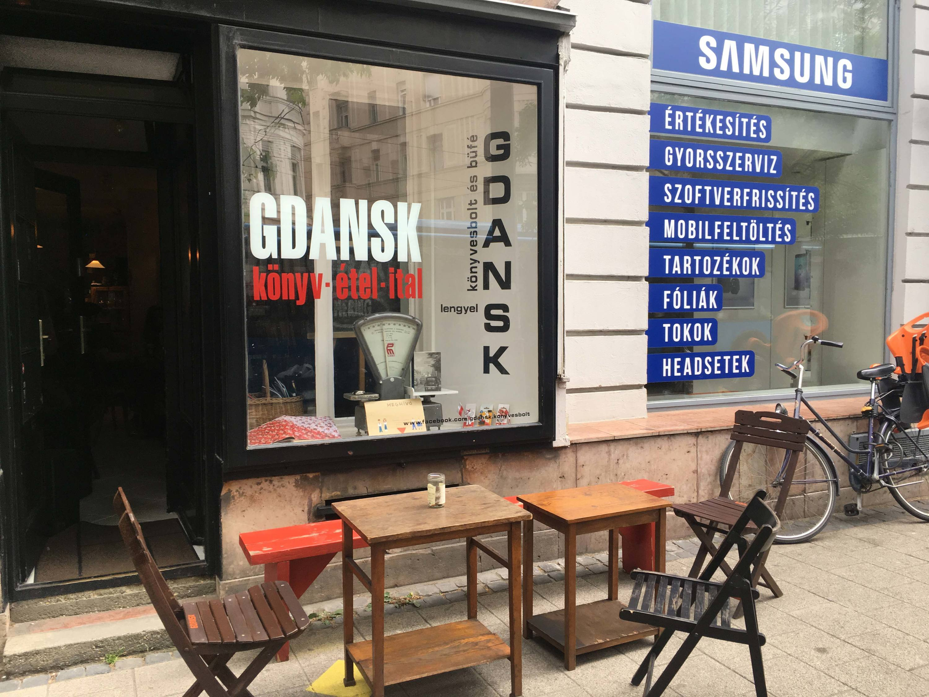 The exterior of Gdansk bar in Budapest