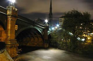 The Kelvin Bridge in Glasgow at night
