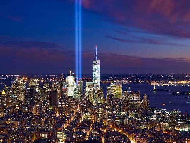 The 9/11 tribute lights will illuminate NYC tomorrow