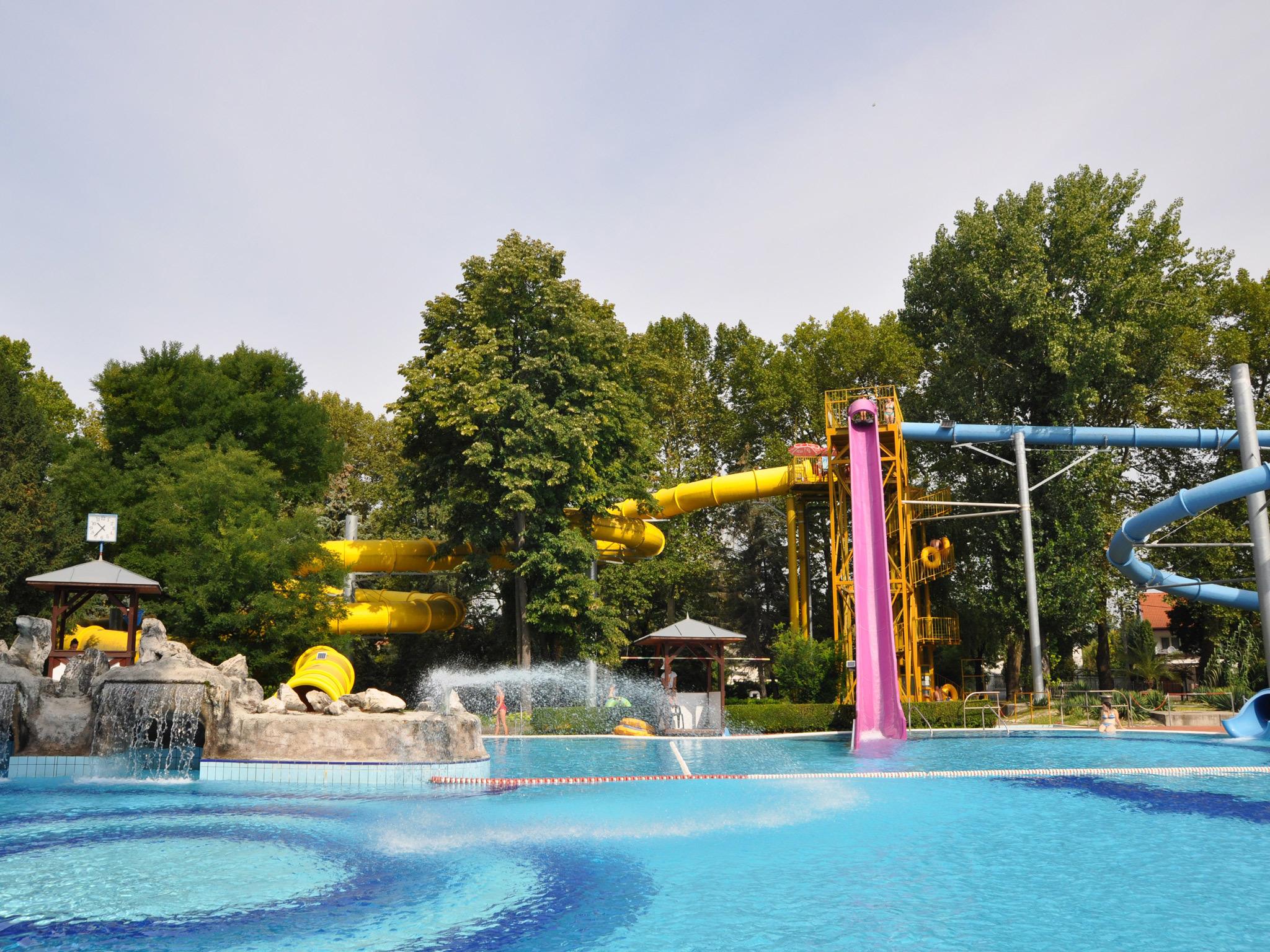 Romai beach baths bathing complex in Budapest