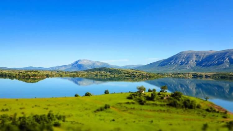 Peruča lake graces medieval town Vrlika in continental Dalmatia