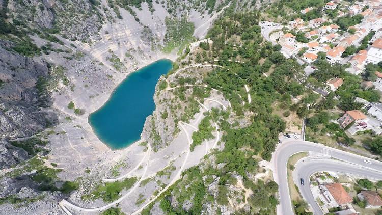 The Dalmatian hinterland's aptly named Blue lake