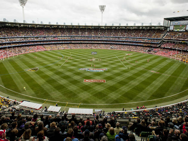 The MCG filled with spectators on Grand Final Day