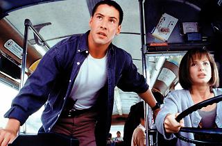 Keanu Reeves and Sandra Bullock in Speed