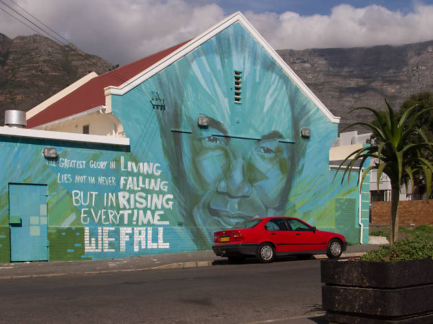 A work of street art in Woodstock neighbourhood of Cape Town