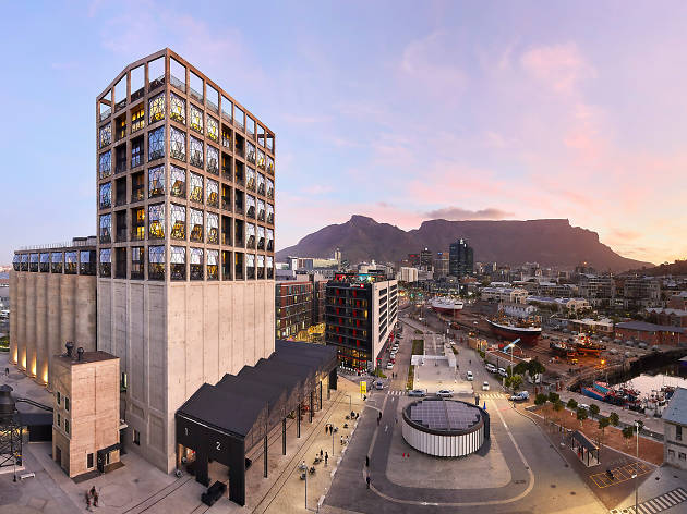 The exterior of the new Zeitz Museum of Contemporary African Art