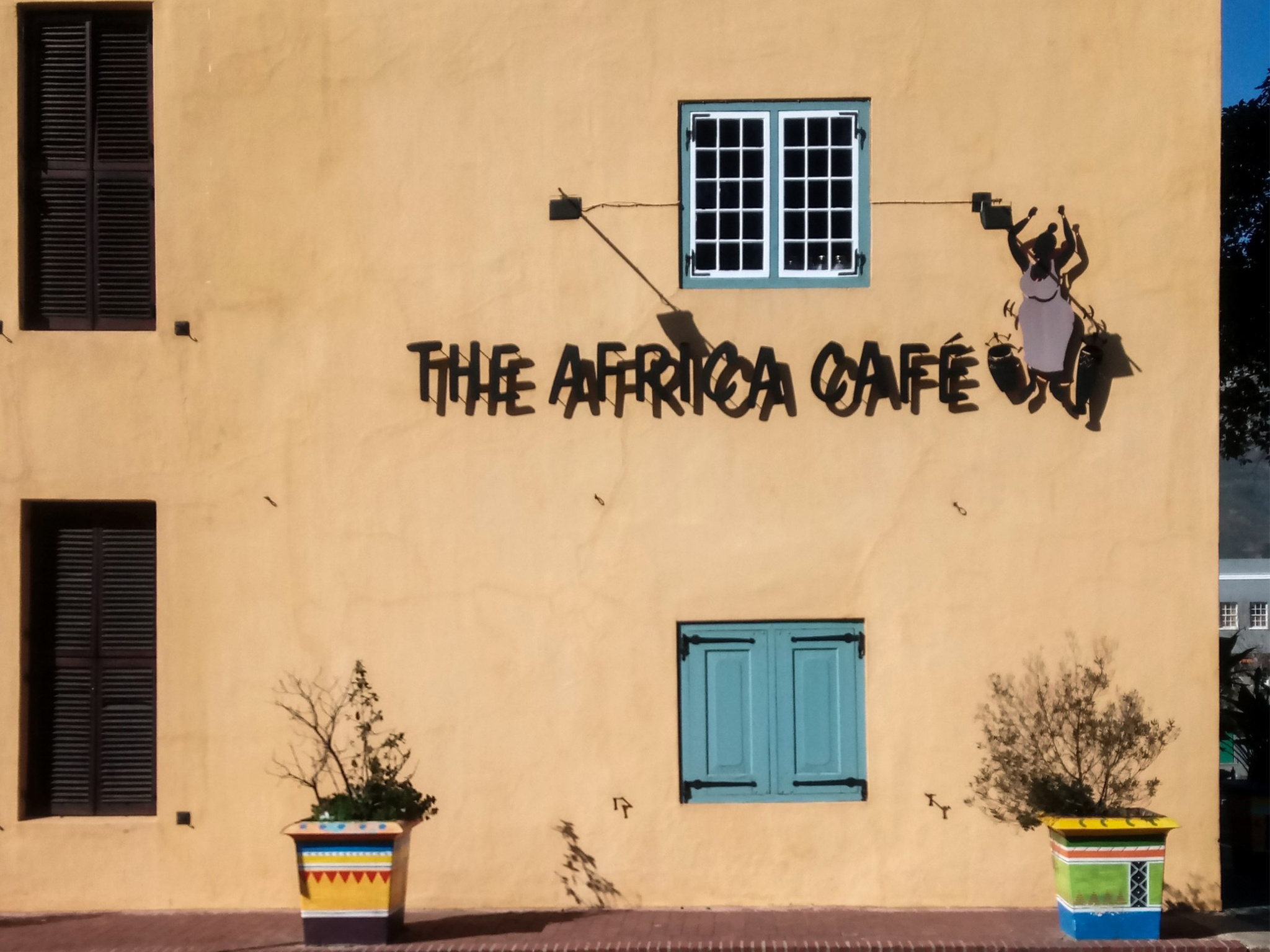 The exterior of Africa Café in Cape Town