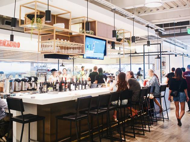 Adelaide Coffee and Wine Bar in Gallery Food Hall Social Eats Santa Monica Third Street Promenade