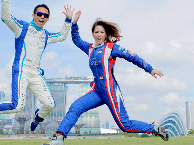 Racing couple Yuey Tan and Claire Jedrek on life in the fast lane