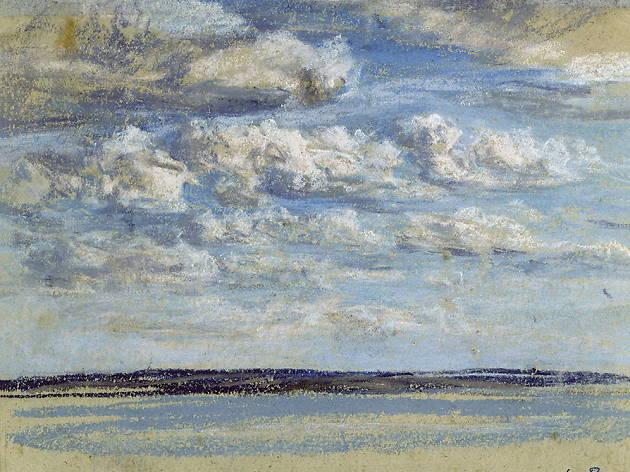 Eugène Boudin Nuages blancs, ciel bleu [Nubes blancas, cielo azul], c. 1859 Musée Eugène Boudin, Honfleur © H. Brauner