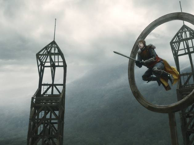 Ron Weasley playing Quidditch