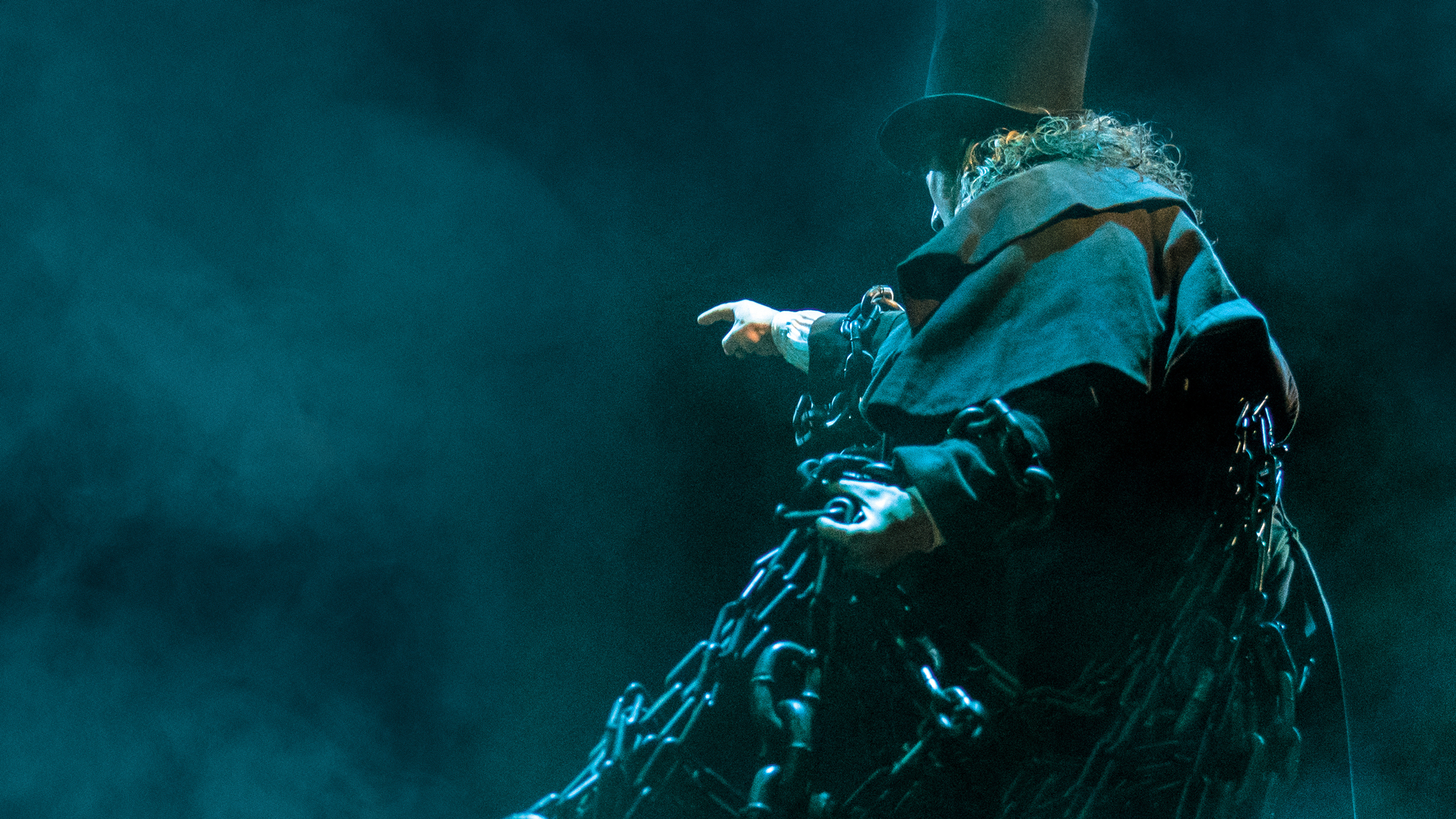 Ghost of Marley in A Christmas Carol at the Old Vic