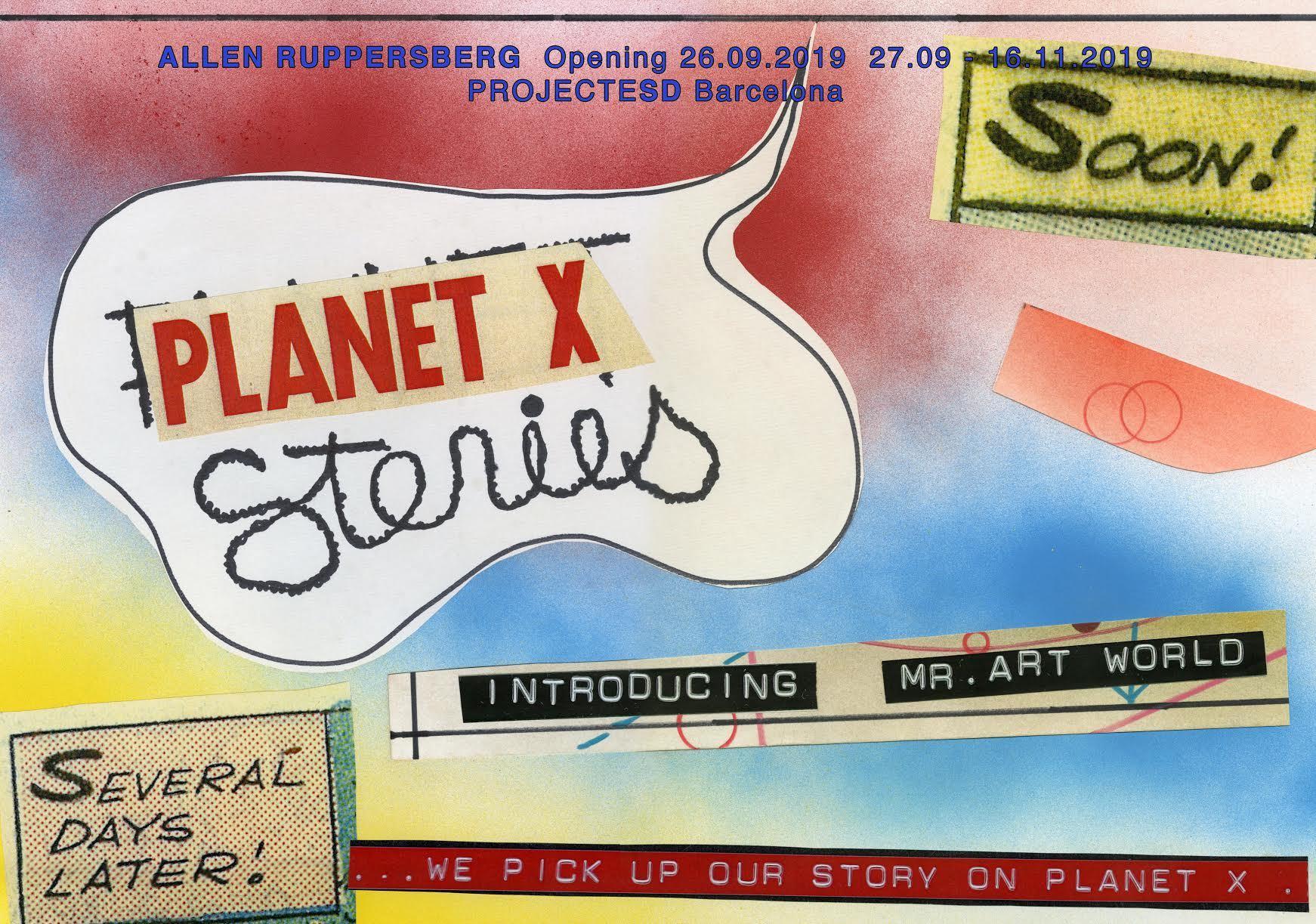 Allen Ruppersberg, Planet Stories, pòster. Cortesia ProjecteSD, Barcelona