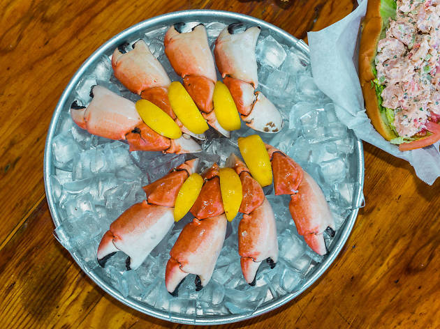 Stone crabs at Monty's Raw Bar