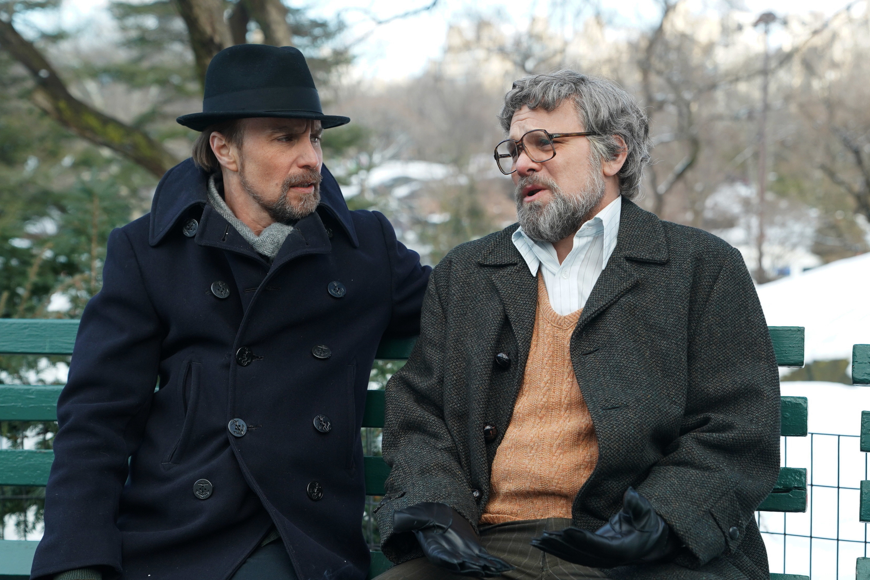 """FOSSE VERDON """"Nowadays"""" Episode 8 (Airs Tuesday, May 28, 10:00 pm/ep) -- Pictured: (l-r) Sam Rockwell as Bob Fosse, Norbert Leo Butz as Paddy Chayefsky. CR: Nicole Rivelli/FX"""