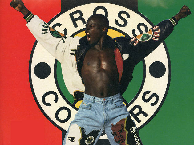 Cross Colours advertisement in URB magazine featuring Djimon Hounsou, ca. 1991.