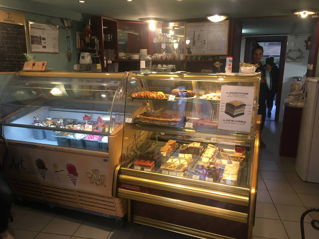 The food counter at kosher Café Noé in Budapest