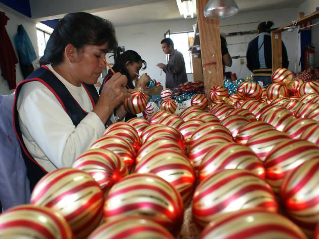 Feria de la esfera en Tlalpujahua, Michoacán