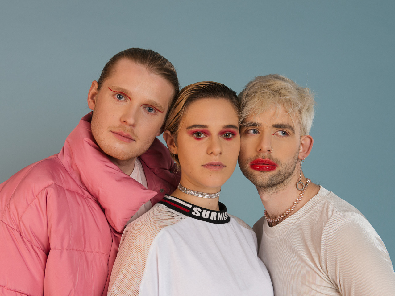 Press shot of the three band members in Huntly