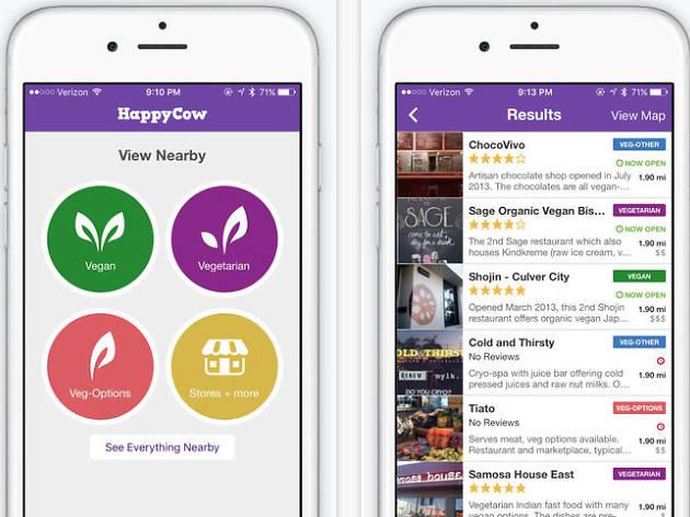 HappyCow app