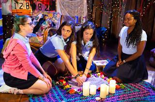 Alyssa May Gold, Rebecca Jimenez, Carmen Berkeley and Malika Samuel in Our Dear Dead Drug Lord