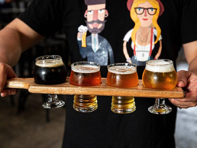 Grab a brew at a craft brewery
