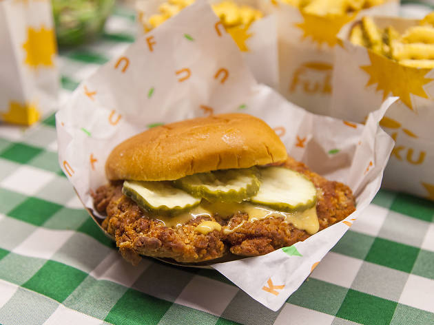 David Chang fried chicken Fuku Santa Monica Gallery Food Hall