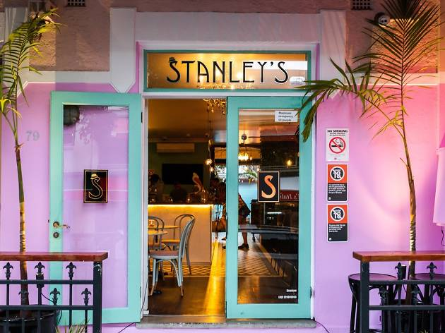 The hot pink facade of Stanley's