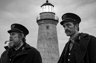 Robert Pattinson and Willem Dafoe  in 'The Lighthouse'