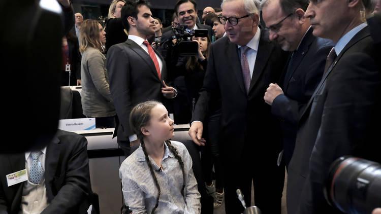Greta Thunberg en el Fórum Económico y Social de Bruselas