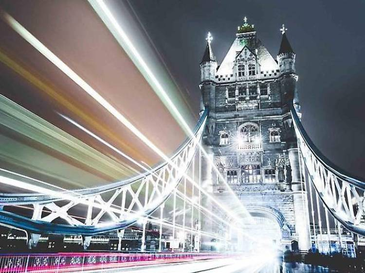 Night photography tour of London