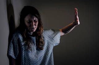 Natalie Hegg in Hunger Thirst Theatre's Strangers in the Night