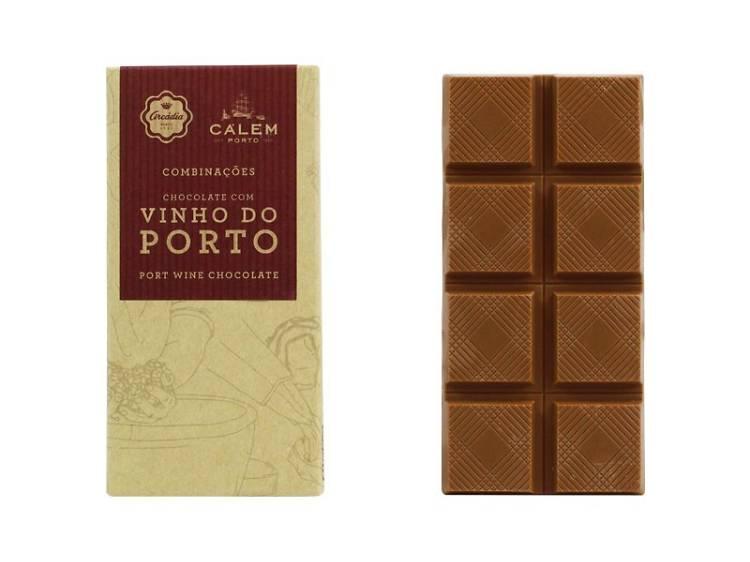 Tablete de chocolate com vinho do Porto da Arcádia