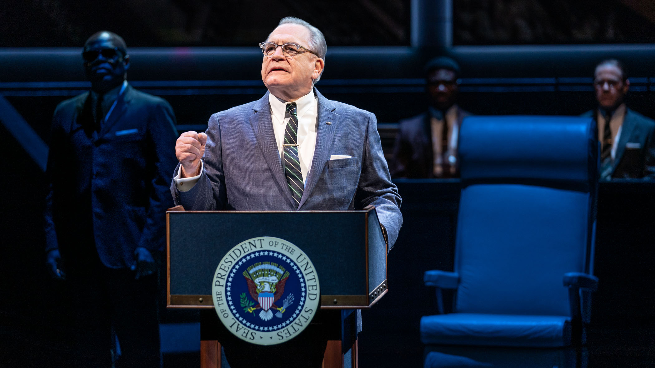 Brian Cox as LBJ in The Great Society