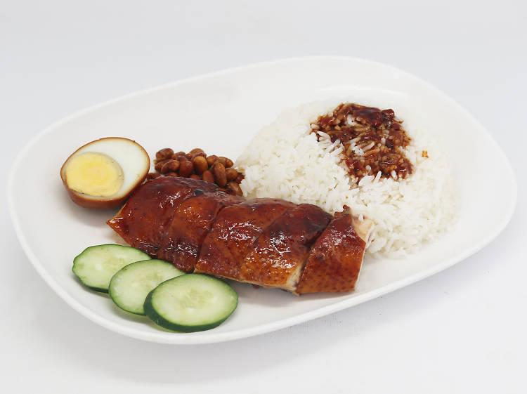Soya sauce chicken rice at Hawker Chan