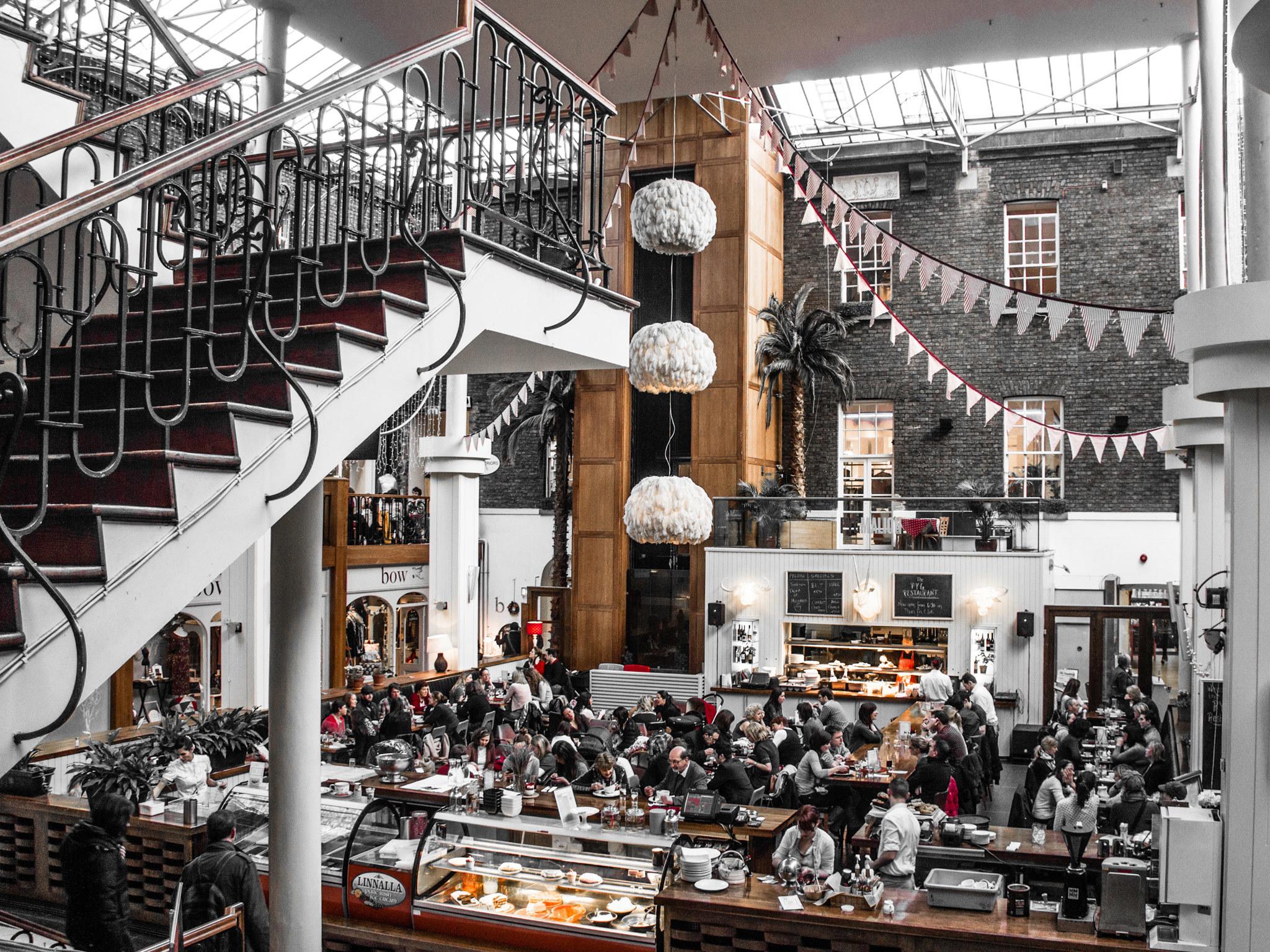 The interior of Powerscourt shopping centre in Dublin