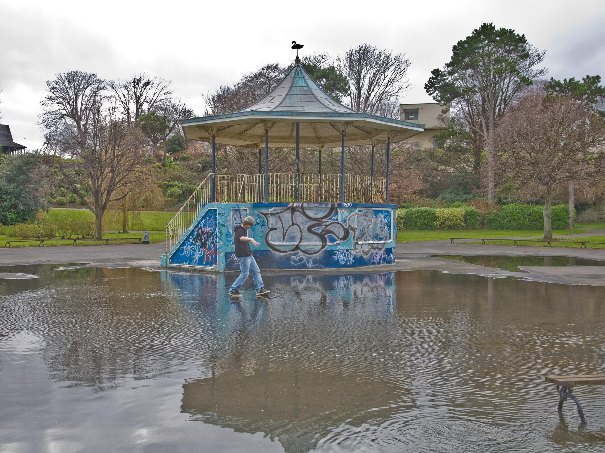 A bandstand at Blackrock Park in Dublin