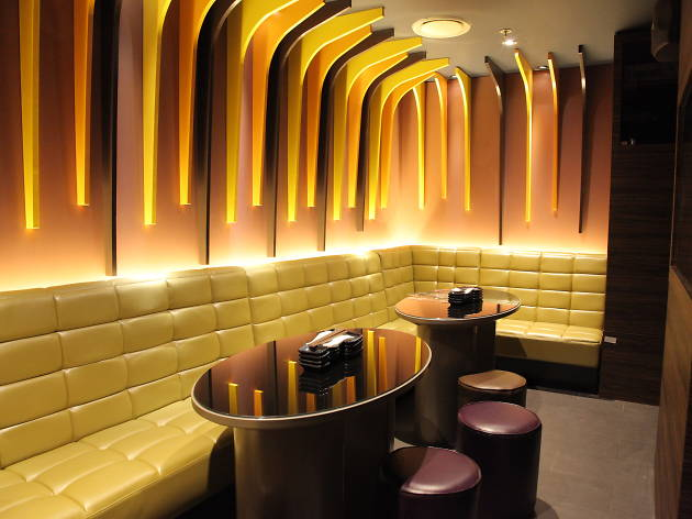 Interior of the karaoke rooms at Lantern By Wagaya.
