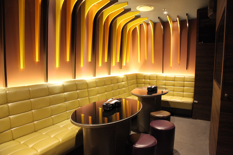 Interior of the karaoke rooms at Lantern By Wagaya.
