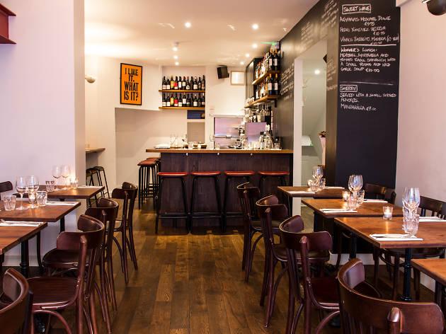 The interior of Etto restaurant in Dublin