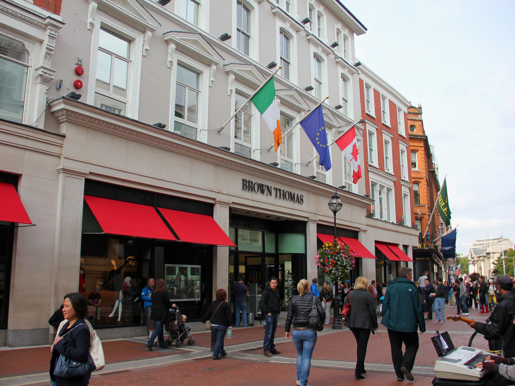 Exterior of Brown Thomas department store in Dublin