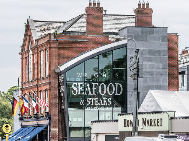 Howth Market and a neighbouring seafood restaurant