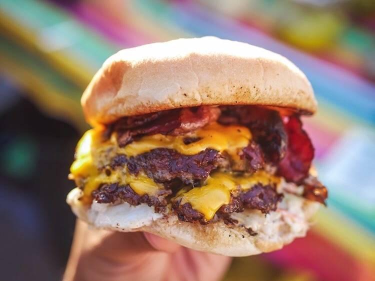 Double Cheeseburgers at Goldburger